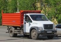 "Самосвал ГАЗ-САЗ-2507 на шасси ГАЗ-C41R13 ""ГАЗон Next"" #Х 486 МВ 45.  Курган, улица Коли Мяготина"