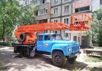 Автоподъёмник АР-18-04 #ВЕ 0846 СВ на шасси ГАЗ-53А. Николаев