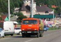 Вакуумная машина КО-505А на шасси КамАЗ-5320 #Е 129 ХТ 38. Иркутская область, Листвянка, улица Горького