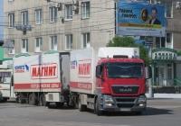 Изотермический фургон Schmitz Cargobull M.KO 7.7 FP 25 на шасси MAN TGS 28.360 #А 636 ОА 37.  Курган, улица Ленина