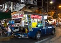 Передвижная кухня на базе пикапа Mitsubishi Triton. Таиланд, Канчанабури