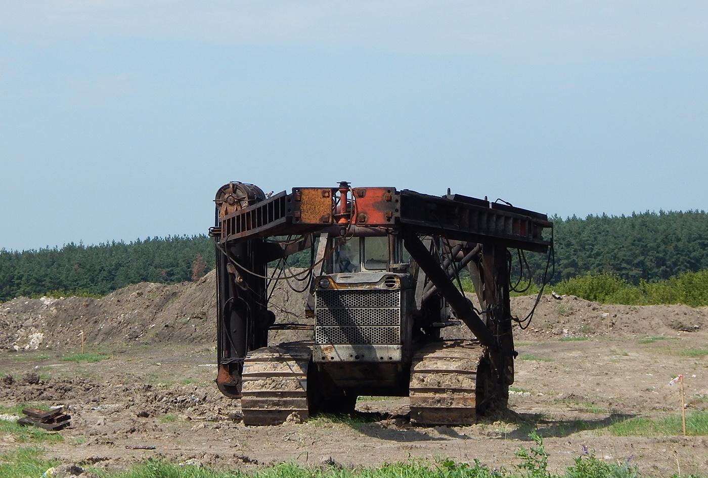 Сваебойный копер СП-49Д на базе трактора Т-170Б. Белгородская область, Алексеевский район, с. Ильинка
