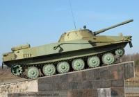 """Плавающий танк ПТ-76.. Житомирская область, АЗС """"Танкист"""" в районе Житомира."""