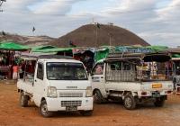 Бортовые грузовики Suzuki Carry и Daihatsu Hijet. Мьянма, Таунджи