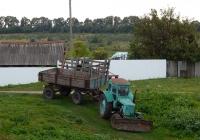 Трактор Т-40АМ с прицепом 2ПТС-4. Белгородская область, Алексеевский район, с. Гарбузово