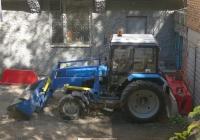 Фронтальный погрузчик на тракторе Беларус-82.1. г. Самара, ул. Осипенко