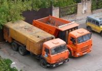 Машина каналопромывочная КО-512 на шасси КамАЗ-65115 # Т 187 СС 163 и самосвал КамАЗ-65115 # Х 108 КО 163. г. Самара, ул. Осипенко