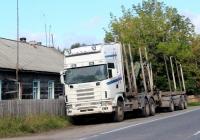 Лесовоз Scania R 144G 530 #К 274 АТ 10. Карелия, Кондопожский район, Гирвас