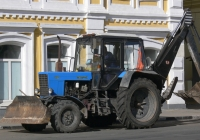 Экскаватор-бульдозер ЭО-2621 на тракторе Беларус-82.1. г. Самара, ул. Фрунзе