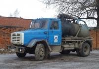 Илососная машина КО-510 на шасси ЗИЛ-433362 #О 697 АС 60. Псков, улица Советской Армии