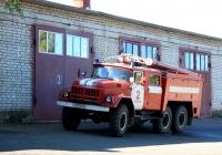 Пожарная цистерна АЦ-40 (131) мод. 137А на шасси ЗИЛ-131НА  #Х 413 АН 60. Псков, Инженерная улица
