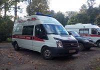 Скорая медицинская помощь (АСМП) класса В на базе автомобиля Ford Transit 300 # В 595 УТ 47. Ленинградская область, Всеволожский район, Колтуши,
