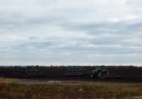 Тракторы John Deer в поле. Белгородская область, Алексеевский район, Афанасьевский сельский округ