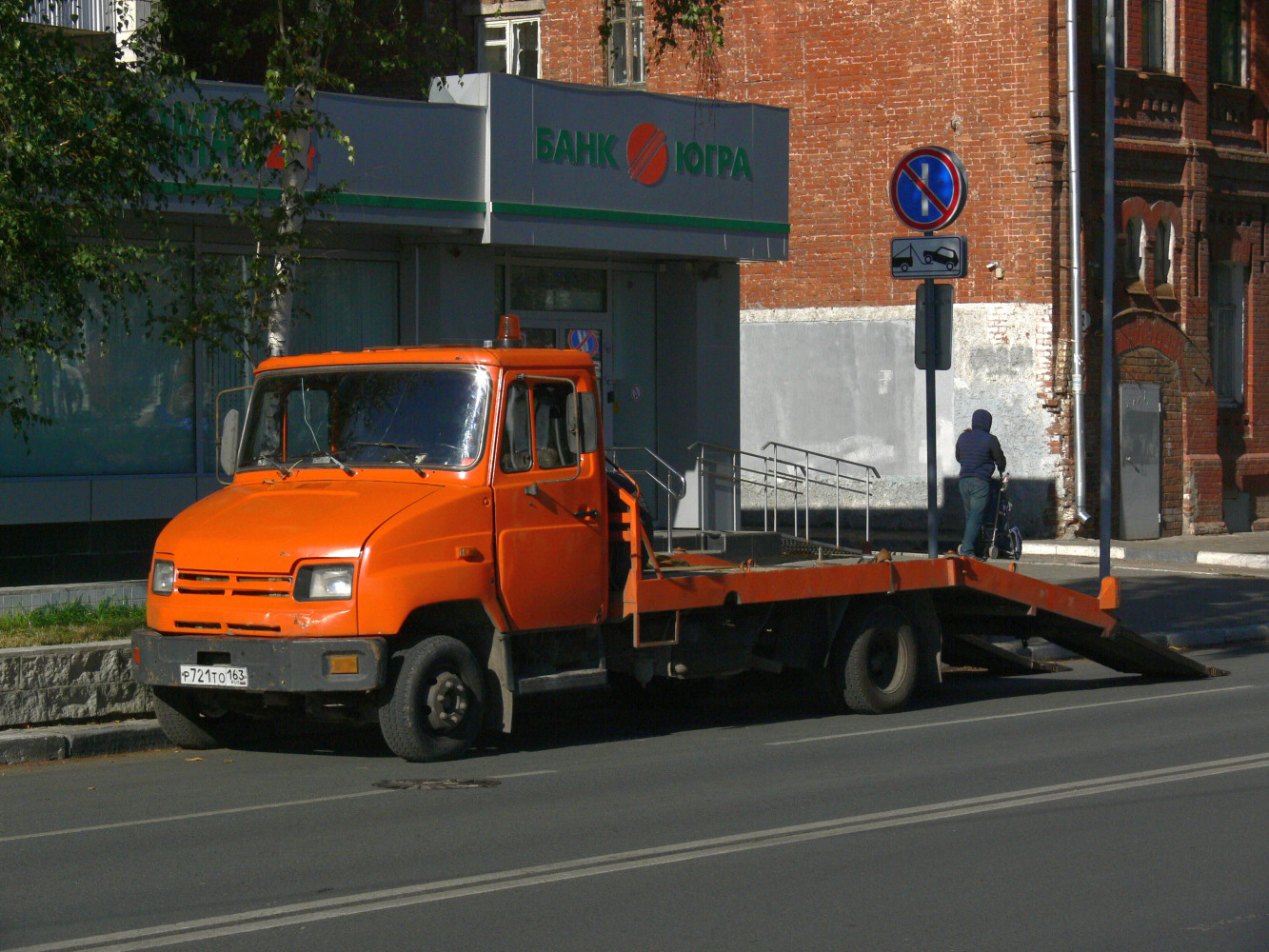 эвакуатор на шасси ЗиЛ-5301* #р 721 то 163. г. Самара, ул. Чапаевская