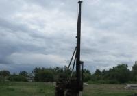 Сваебойный копер СП-67 на базе трактора Т-170Б. Курган, Молодёжный парк