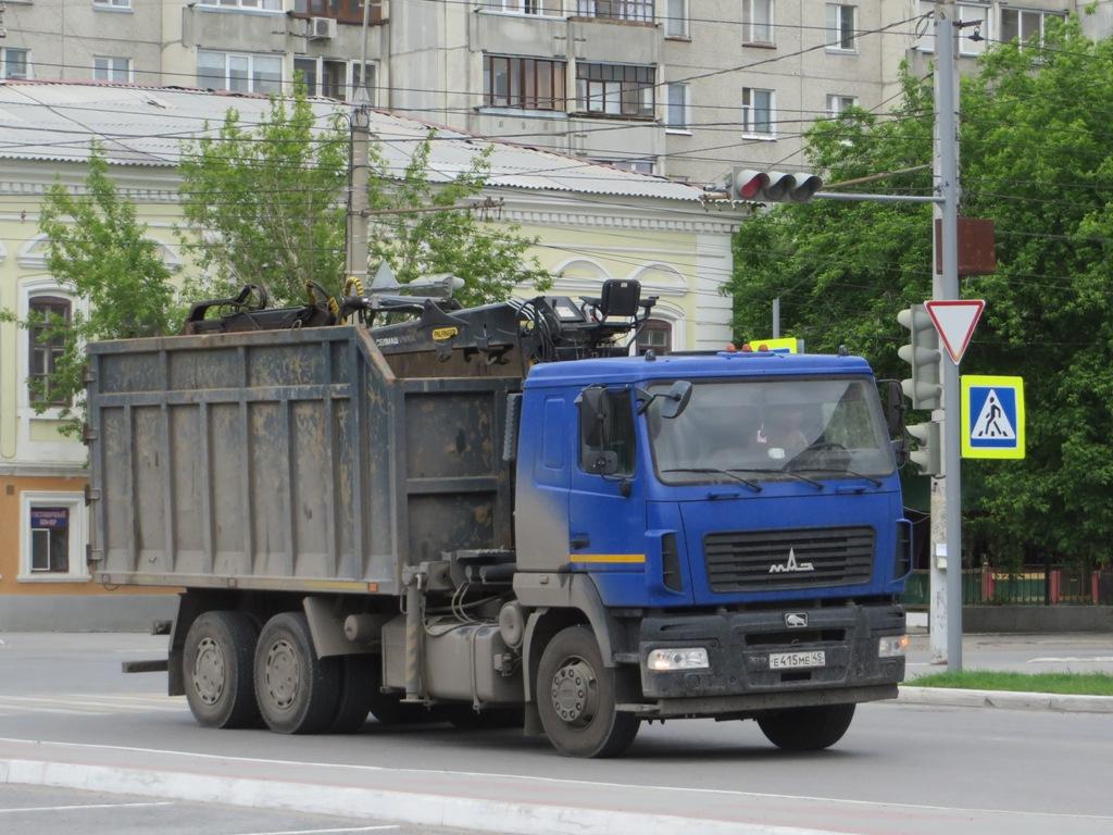 Металловоз T6310A на шасси МАЗ-6312В5-8429-012 #Е 415 МЕ 45. Курган, улица Савельева