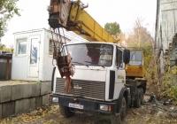 Подъемный кран на шасси МАЗ-5516 #а 682 ан 163. г. Самара, ул. Ново-Садовая