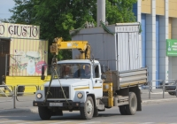 Самосвал ГАЗ-САЗ-35071 с КМУ на шасси ГАЗ-3309 #О 269 КН 45. Курган, улица Куйбышева