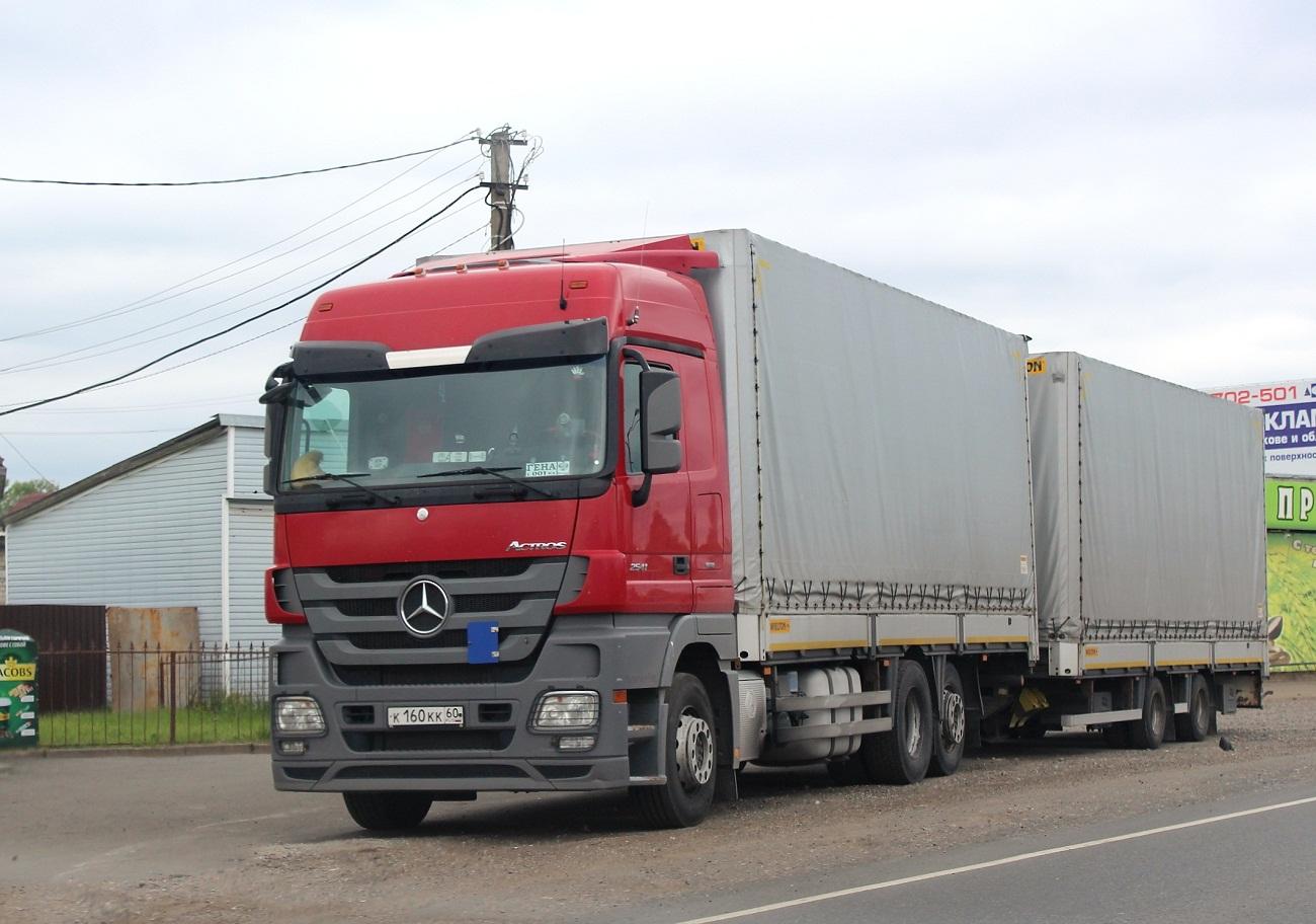 Mercedes-Benz Actros 2541 #К 160 КК 60. Псков, Ленинградское шоссе