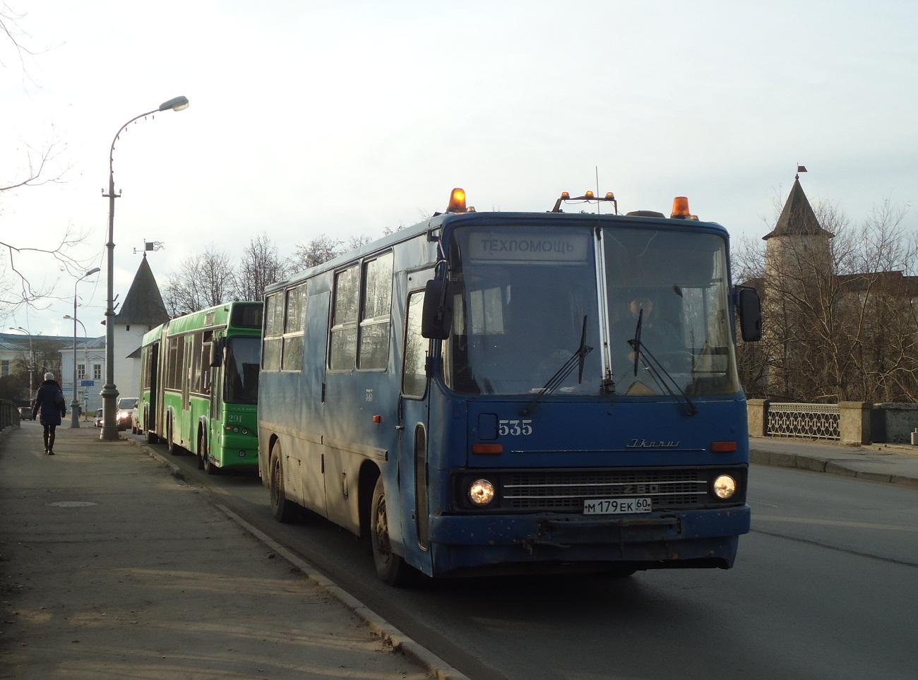 Техпомощь на шасси Ikarus 280.33 #М 179 ЕК 60. Псков, улица Леона Поземского