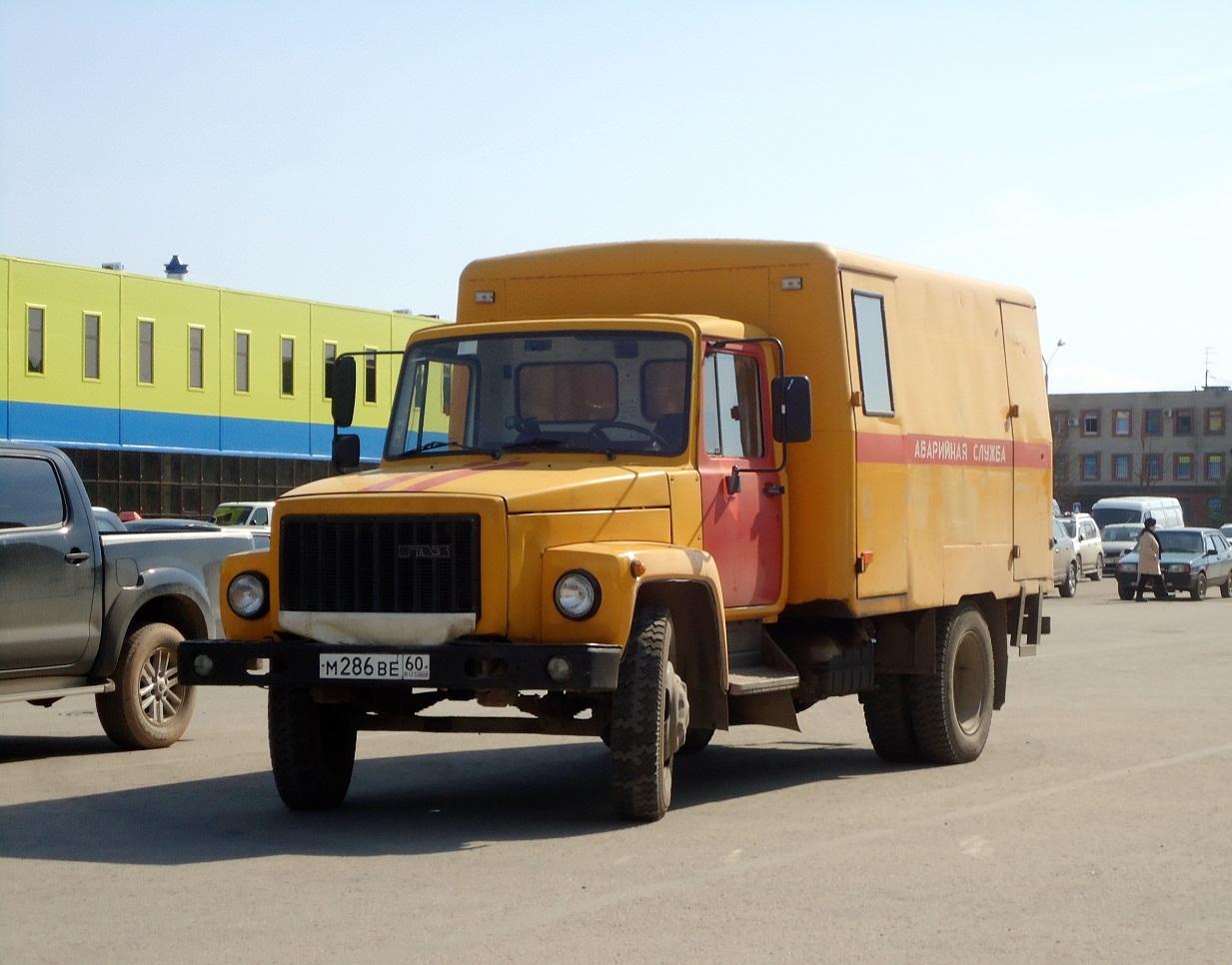 АРТК-М на шасси ГАЗ-3307 #М 286 ВЕ 60. Псков, улица Труда