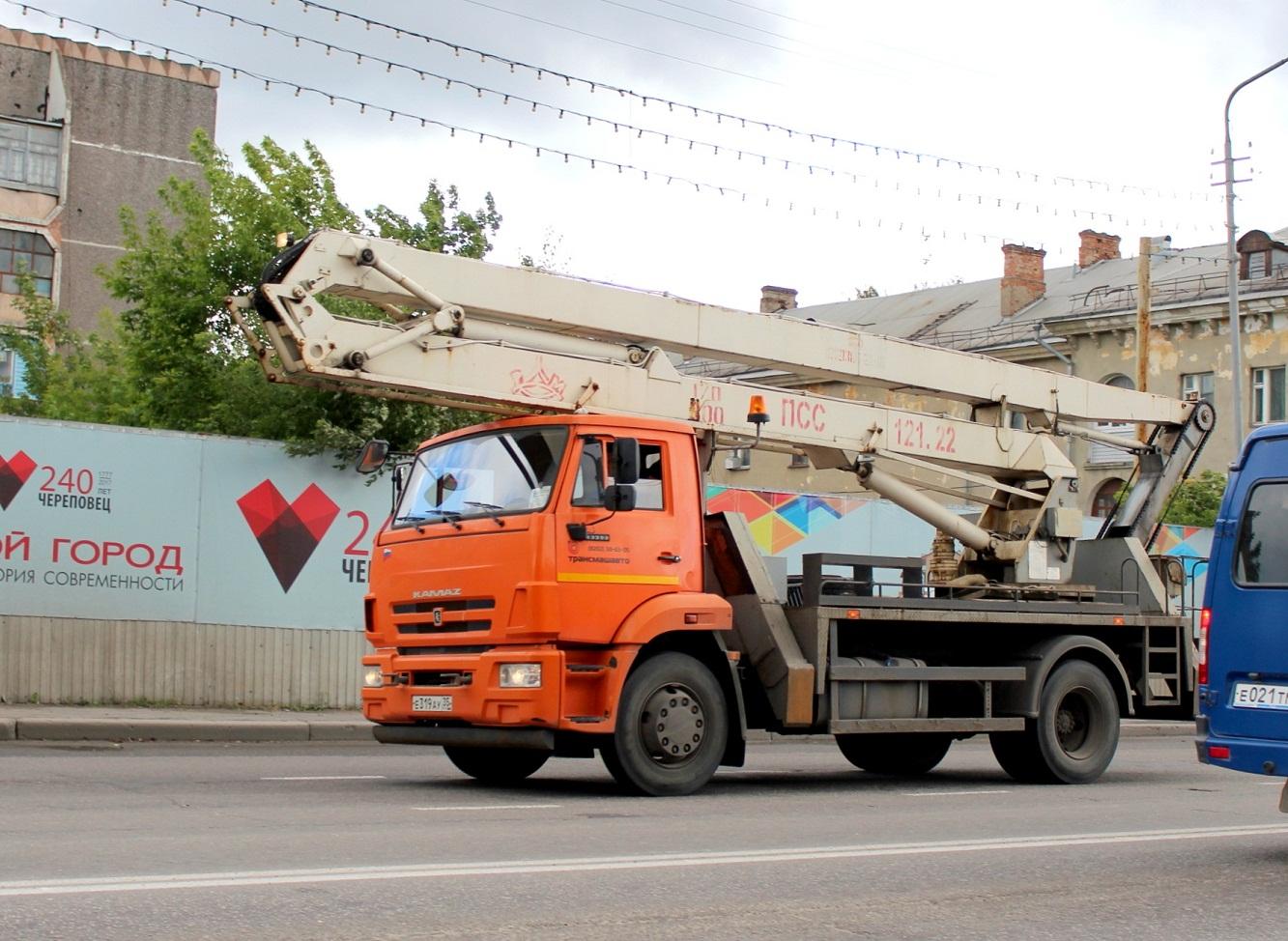 ПСС-121.22 на шасси КамАЗ-43253 #Е 319 АУ 35. Вологодская область, Череповец
