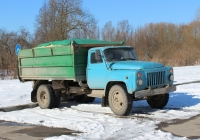 Самосвал ГАЗ-САЗ-3507 на шасси ГАЗ-53-14 #М 336 АР 60. Псков, улица Юности