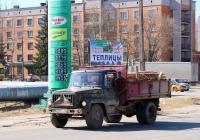 Самосвал ГАЗ-САЗ-3507-01 на шасси ГАЗ-3307 #Р 343 АА 60. Псков, Индустриальная улица