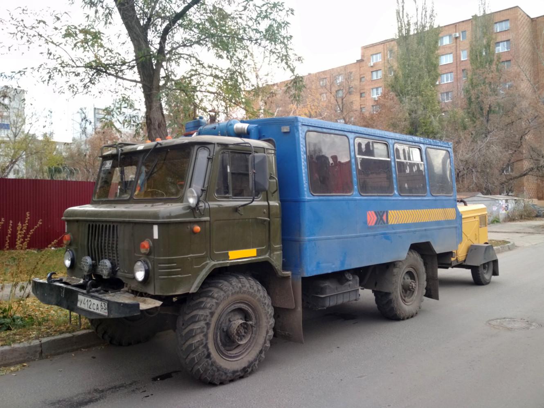 Вахтовый автобус ВМ-2001 на шасси ГАЗ-66-01 #У 412 СА 63. Самара, Больничная улица