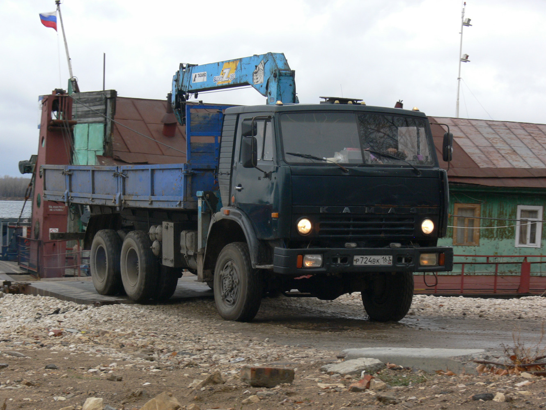 грузовой автомобиль КамАЗ-43118* с КМУ Tadano #р 724 вк 163. г. Самара, ул. Лейтенанта Шмидта
