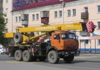"""Автокран КС-55713-5 """"Галичанин"""" на шасси КамАЗ-43118-15 #C 627 EA 45. Курган, улица Коли Мяготина"""