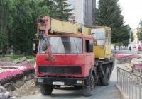 Автокран КС-3577 на шасси МАЗ-5337 #М 394 КВ 45. Курган, Фестивальный сквер