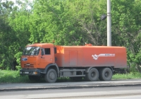 Каналопромывочная машина КО-512 на шасси КамАЗ-65115 #Е 327 ЕТ 45.  Курган, улица Куйбышева
