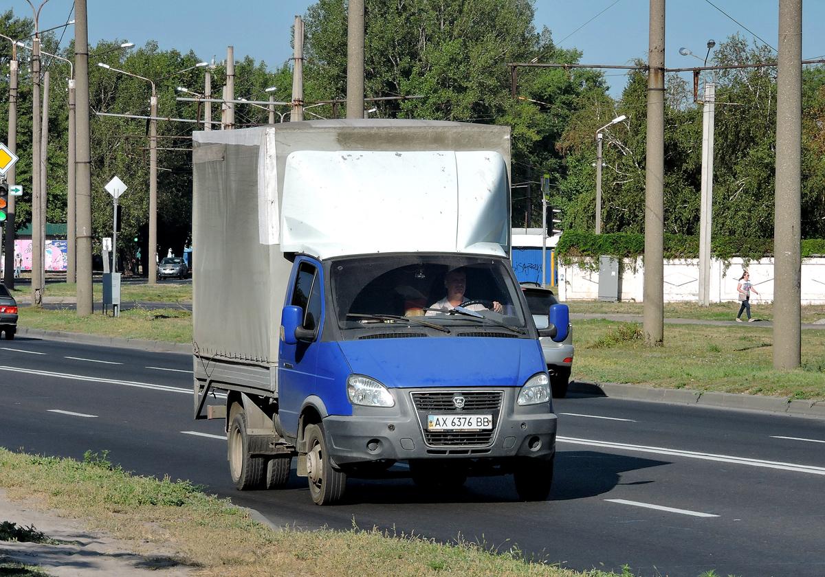 Грузовой малотонажный автомобиль ГАЗ 3302-415  #AX 6376 BB. Харьковская область, г. Харьков, Салтовское шоссе