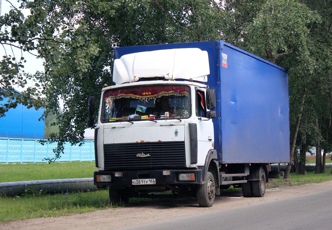 Фургон 5763FX на шасси МАЗ-437041-281 #О 381 ТУ 163. Псков, Индустриальная улица