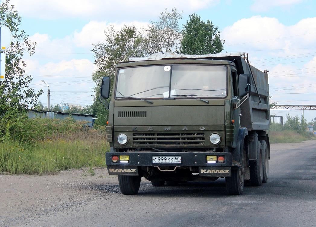 Самосвал КамАЗ-55111 #С 999 КК 60. Псков, Индустриальная улица