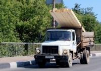 Самосвал ГАЗ-САЗ-3507-01 на шасси ГАЗ-33072 #О 349 КО 60. Псков, Крестовское шоссе