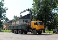 Самосвал с КМУ КамАЗ-55102 на шасси КамАЗ-5320 #В 040 АК 60. Псков, Боровая улица