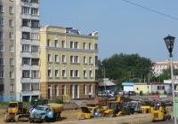 Строительство шестиполосной автодороги . Курган, улица Бурова-Петрова