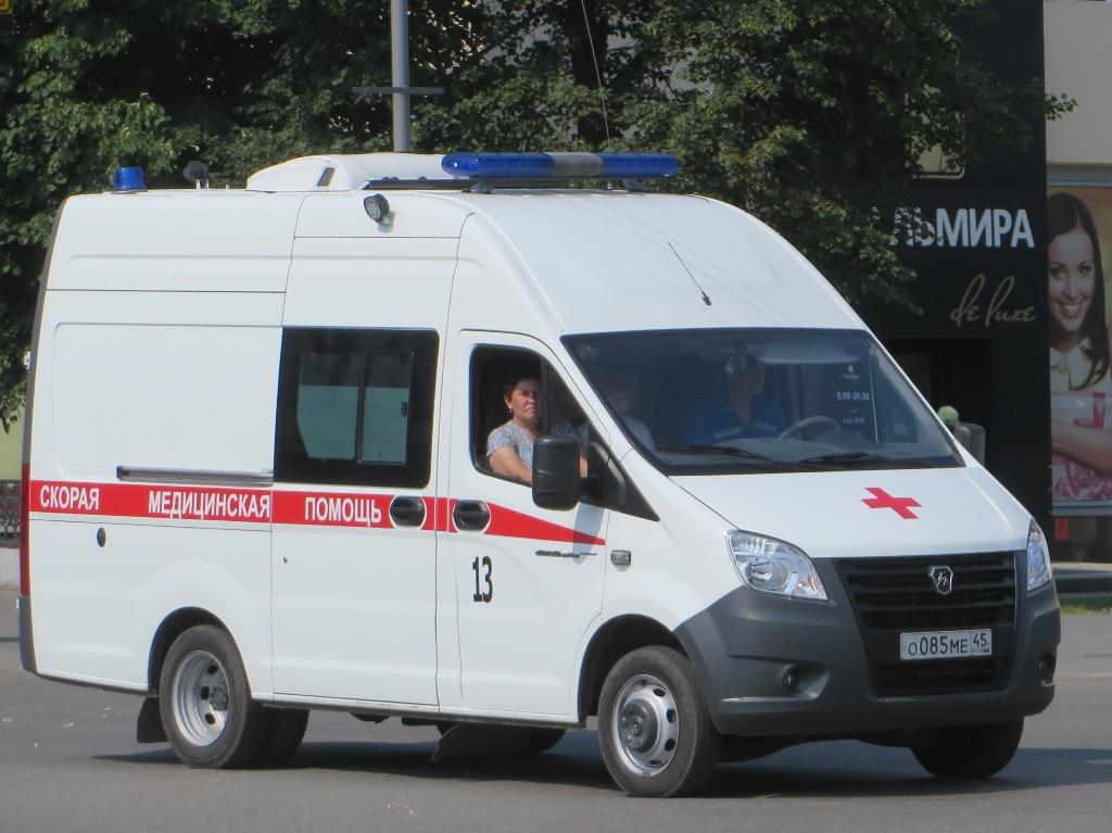 "АСМП ГАЗ-А6ВR23 ""Газель Next"" #О 085 МЕ 45.  Курган, улица Куйбышева"
