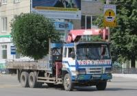 Бортовой грузовик с КМУ на шасси Mitsubishi Fuso #Е 636 КЕ 45. Курган, улица Куйбышева