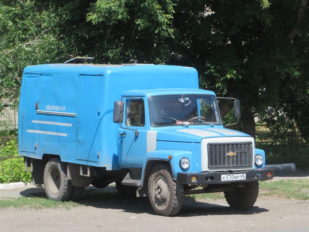 АРТК-М на шасси ГАЗ-3307 #К 570 ВР 45.  Курган, Советская улица