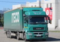 Седельный тягач КамАЗ-5490-S5 #О 195 РО 152.  Курган, Троицкая площадь