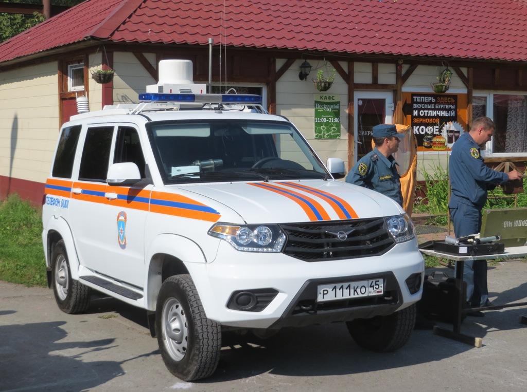 Автомобиль МЧС РФ УАЗ-3163 #Р 111 КО 45. Курган, ЦПКиО