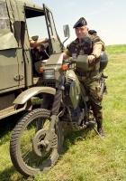 """Военный мотоцикл Cagiva T4-350. . Украина, Николаевская обл. Полигон """"Широкий лан"""""""