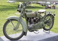 Военный мотоцикл Harley-Davidson JD-1200 (1923 г.). Киев, ул. Медовая 1, Олд Кар Фест.