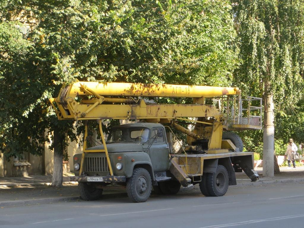 Автоподъёмник АГП-18.02 на шасси ГАЗ-53-12 #А 994 ЕВ 45. Курган, улица Куйбышева