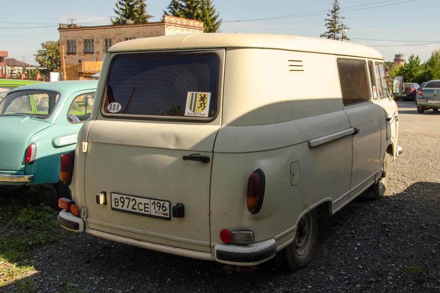 Цельнометаллический фургон Barkas B1000 #В 972 СЕ 196. Екатеринбург, Авиационная улица