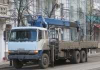Бортовой грузовик с КМУ на шасси Hyundai Саrgо Тruск #К 319 ЕН 72.  Курган, улица Ленина