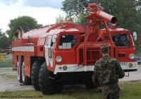Аэродромный пожарный автомобиль АА-60(7310)-160-01 на шасси МАЗ-7310.  №87 73 КХУ.. Киевская обл, Гостомель. Аэропорт Антонов.